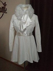 Kabáty - Kabátik pre nevestu (Biela) - 11108061_