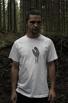 Tričká - Tričko s linorytovou potlačou - Sliepka (S - Modrá) - 11105648_