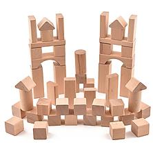 Hračky - Drevená stavebnica - 51 ks komponentov (+ vrecúško) - 11107082_