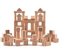 Hračky - Drevená stavebnica - 72 ks komponentov (+ vrecúško) - 11107336_