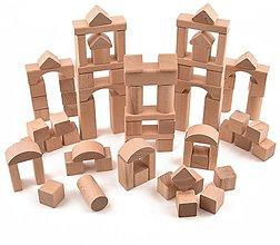 Hračky - Drevená stavebnica - 81 ks komponentov (+ vrecúško) - 11107374_