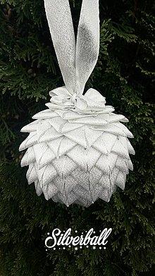 Dekorácie - Gule na stromček  (Silverball) - 11109614_