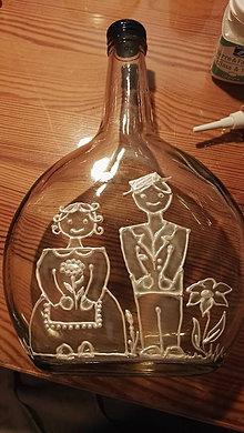 Nádoby - recyklujem_04, fľaša na svadbu, alebo rozlúčku so slobodou :-) - 11105774_