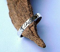 Prstene - strieborný prsteň - 11107256_