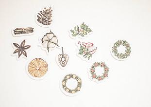 """Papier - Set nálepiek """"Vianočný čas"""" (Vianoce no.1) - 11105535_"""