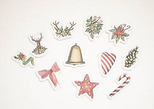 """Papier - Set nálepiek """"Vianočný čas"""" (Vianoce no.2) - 11105539_"""