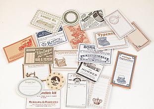 Papier - Vintage nálepky - veľký set  (VINTAGE retro) - 11105571_