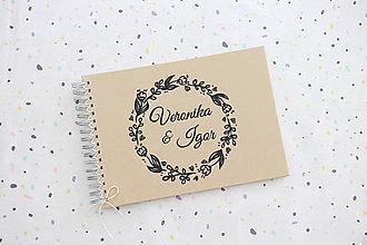 Papiernictvo - Kniha hostí black flowers - 11109898_