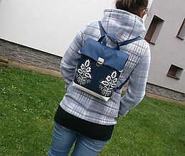 Batohy - folkový batoh z poklopom - 11108450_