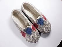 Pánske vlnené plstené papuče