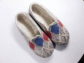 Obuv - Pánske vlnené plstené papuče - 11109035_