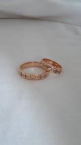 Prstene - Rozprávkové obrúčky (ružové zlato) - 11108321_