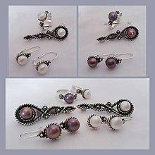 Sady šperkov - strieborná súprava s bielymi perlami - Čaro perál - 11108381_