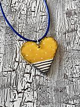 Náhrdelníky - námornícke retro v žltej - náhrdelnik - 11105865_