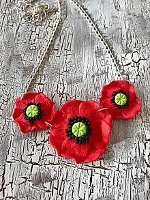 Náušnice - vlčie maky (AKCIA! náhrdelník) - 11105772_