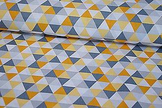 Textil - Horčicové trojuholníky - posledná šanca - 11110390_