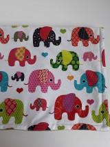 Textil - Detská deka tyrkysová - Farebné sloníky veľké - 11111897_