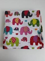 Textil - Detská deka tyrkysová - Farebné sloníky veľké - 11111907_
