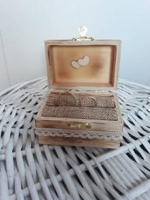 Prstene - Krabička na prstienky - 11112336_