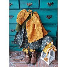 Šaty - Zelené retro šatky pre malé princezné - 11111037_