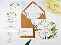 Papiernictvo - Svadobné oznámenie Olívia so špagátikom - 11113556_