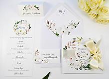 Papiernictvo - Svadobné oznámenie Olívia so stuhou - 11113592_