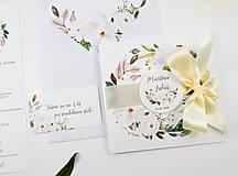 Papiernictvo - Svadobné oznámenie Olívia so stuhou - 11113607_