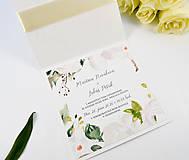 Papiernictvo - Svadobné oznámenie Olívia so stuhou - 11113610_