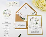 Papiernictvo - Svadobné oznámenie Olívia (Kruhový monogram) - 11113714_