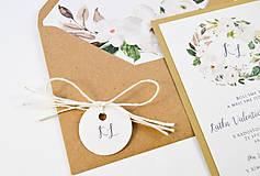Papiernictvo - Svadobné oznámenie Olívia (Previazanie ľanovým špagátikom) - 11113718_
