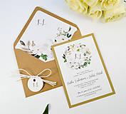 Papiernictvo - Svadobné oznámenie Olívia (Kruhový monogram) - 11113719_