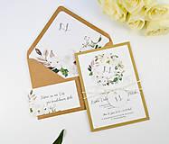 Papiernictvo - Svadobné oznámenie Olívia (Kruhový monogram) - 11113720_