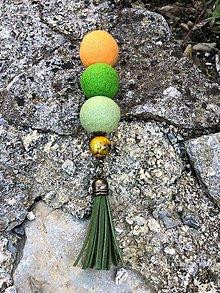 Náhrdelníky - Plstený náhrdelník - Hraško - 11113400_