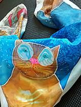 Šatky - Hodvábna šatka crazy cats - 11111707_