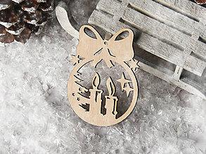 Dekorácie - Vianočná ozdoba guľa s mašličkou (Vzor IV) - 11110013_