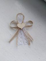Pierka - Vintage svadobné pierko - 11110576_