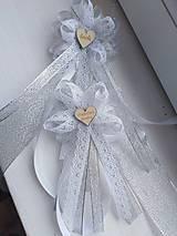 Pierka - Svadobné pierka čipkove veľké - 11110891_