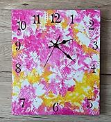 Hodiny - Kvetované hodiny - 11112957_