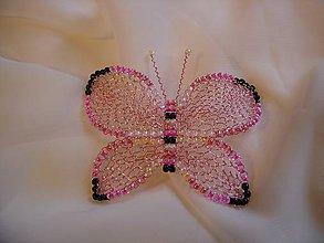 Odznaky/Brošne - Motýlik - 11110477_