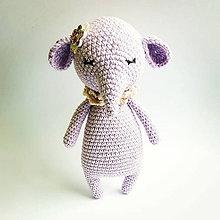 Hračky - Háčkovaný sloník - 11112320_