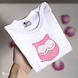 Detské oblečenie - body SOVIČKA RUŽENKA (dlhý/krátky rukáv) - 11112846_