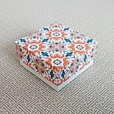 Obalový materiál - Krabička darčeková ornament - 11113015_