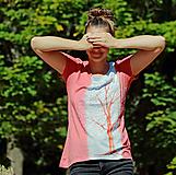 Tričká - Dámske tričko maľované, batikované SVITANIE - 11110536_