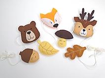Detské doplnky - Filcová girlanda (Jeseň v lese) - 11111802_