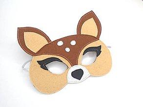 Hračky - Maska na tvár, škraboška (srnka) - 11111844_