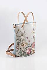 """Kabelky - Veľká ručne maľovaná kabelka z ľanu """"VintageRosie"""" - 11110413_"""