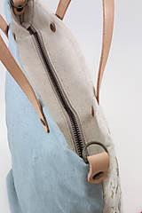 """Kabelky - Veľká ručne maľovaná kabelka z ľanu """"VintageRosie"""" - 11110439_"""