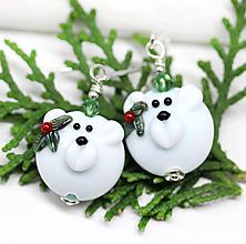 Náušnice - Vianočné medvedíky náušnice /l-16 - 11112362_