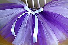 Detské oblečenie - Fialová tylová sukňa - 11110989_