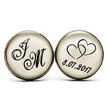 Šperky - Deň D - svadobné manžetové gombíky - 11112739_